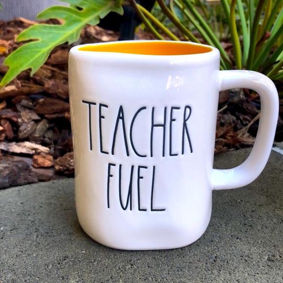 Gift Boxed Double Sided Rae Dunn Teacher Mug Set